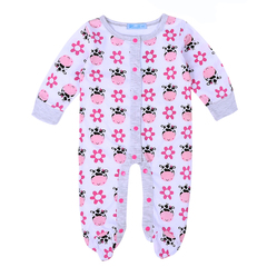 Newborn Baby Clothes Children's Rompers Spring Animal Overalls Print Toddler Boys Clothing white 80
