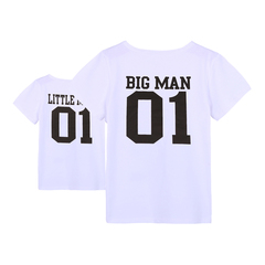 family matching outfits father and son 2019 baby summer T-shirt for dad and son clothes white XXL