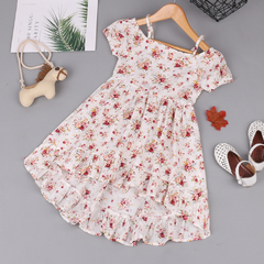 Girls Floral Dresses Cute Cotton Dress For Girl Children Clothing Costume Girl Dresses Summer photo color 120
