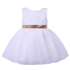Gorgeous Baby Events Party Wear Tutu Tulle Gowns Princess Dresses Evening Dress white 90