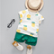 Summer Clothes For Boys Kids Short Sleeve Print Pineapple 2 Piece Sets Casual Children's Clothing green 100