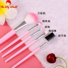 5pcs Eyeshadow Makeup Brushes Set Pro PINK Eye Shadow Blending Make Up Brushes pink