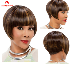 New Fashion Synthetic Wigs Hair Short black hair black 1pcs