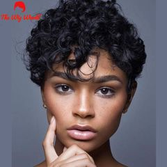 New Fashion Synthetic Wigs Hai  Short curly hair photo color 1pcs