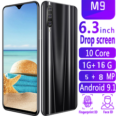 New Bobarry Smart Phone M9,1G+16G, 5MP+8MP,2G/3G/4G,6.3Inch,Android OS9.1Smartphone black