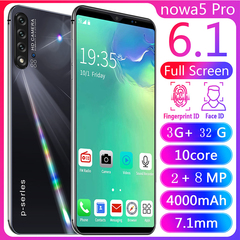 New Phone Bobarry NoWa5 pro 32G+3G 8MP+2MP 2G/3G 6.1Inch Android Smart phone black