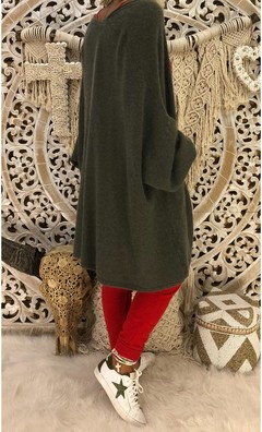 Hot style coat sexy cardigan lapel sleeve loose coat clothes Army green S