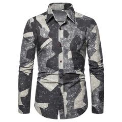 Men's Big Size Long Sleeve Shirt Fashion Multicolor Slimming 1609-CS116 S02 5xl