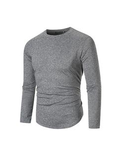 Autumn New Long Sleeve T-shirt for Men Youth T-shirt for Men dark gray m
