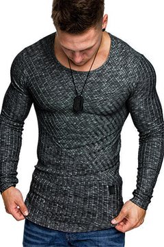 T-shirt for young men with long sleeves black m