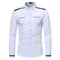 Colorblock men's long sleeve shirt ZT-CS32 white s