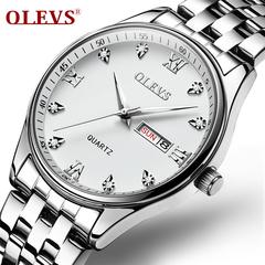 OLEVS Business affairs waterproof Double calendar Men'sWatch A