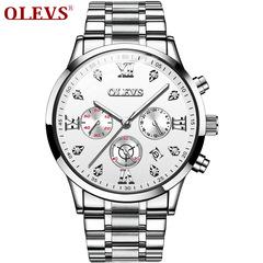 OLEVS Multi-function watch sports waterproof men's watch white