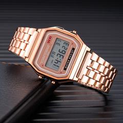 Watch Men's Creative Watches Luxury LED Digital Clock Men Fashion Black Rose Golden Rose gold