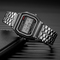 Unisex Watch Stainless Steel LED Sports Wristwatches Electronic Digital Watches Present black