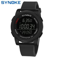 SYNOKE chronograph function electronic watch waterproof outdoor sports watch black