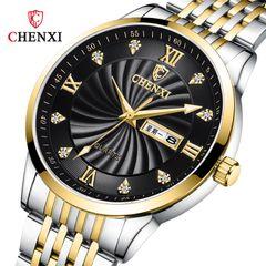 New watch men's watch ladies watch dual calendar quartz watch couple watch 8212 black face--male