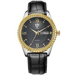 LIEBIG Men's Calendar Business Watch Belt Watch Luminous Vintage Quartz Watch black