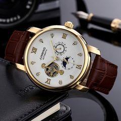 High-end business men's watch waterproof waterproof diamond automatic mechanical watch a