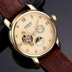 High-end business men's watch waterproof waterproof diamond automatic mechanical watch b