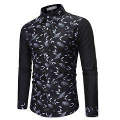 Men's European Size New Long Sleeve Shirt Shirt s02 s