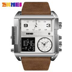 Skmei square men's business electronic watch multifunctional waterproof watch f