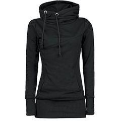 Popular women's wear European and American long sleeve sweater ladies top black s