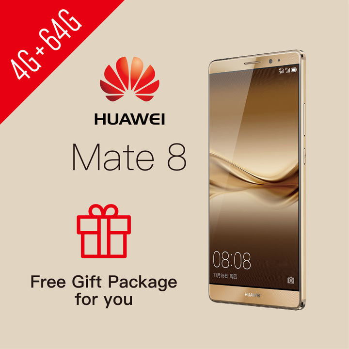 Refurbished Phone HUAWEI Mate 8 4+64GB Dual SIM smartphone FHD NFC Google support UMTS & LTE 4GB+64GB Gold