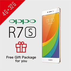 Smart Phone Refurbished OPPO R7s 4G+32G FHD 1920x1080 NFC Google Services support UMTS & LTE 4G+32G Rose Gold
