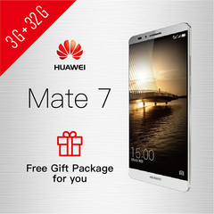 Refurbished Smartphone Huawei Mate7 3GB+32GB Double SIM smartphone support UMTS & LTE 3G+32GB Silver
