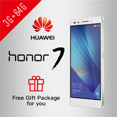 Refurbished Phone Huawei Honor 7 3+64GB Dual SIM smartphone FHD Google support UMTS & LTE 3GB+64GB Silver