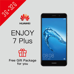 SmartPhone Refurbished HUAWEI ENJOY 7 Plus 3G+32G Google Services Installed Support UMTS & LTE 3GB+32GB Black
