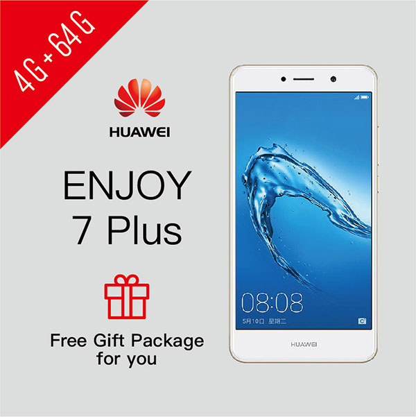 SmartPhone Refurbished HUAWEI ENJOY 7 Plus 4G+64G Google Services Installed Support UMTS & LTE 4GB+64GB Gold