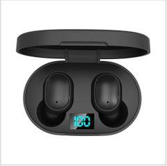 Bluetooth 5.0 Earphones Headsets HiFi Stereo Deep Good Bass AirPods Earbuds LED Power Display black