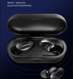 120H Standby Bluetooth Earphones Headset HD Stereo Sound Wireless Earbud Good Bass Headphone Airpods black