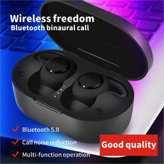 Bluetooth Earphones Headset Wireless Earbuds 5D Binaural Stereo Sound Good Bass Airpods Headphones black