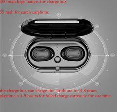 Bluetooth Earphones Wireless Sports Headsets Good Bass Headphone HiFi Stereo  Noise Cancellation black