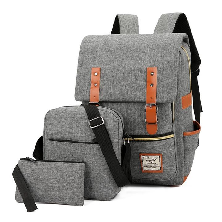 3 Pcs/Set Unisex Backpacks bags For School Teenagers Girls Fashion Woman Shoulder Bag Backpack Set red one set