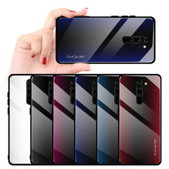 Twill Gradient Tempered Glass Case For Redmi 7A RedmiNote 7 Pro Ultra-thin Back Cover For Xiaomi 1 redmi note7/note7 pro