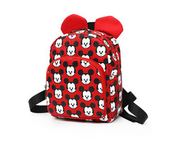 Mouse School Bag canvas Children Boys Girls Student Backpack bag for School Bag Cute Kids black one