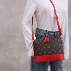 cross-body bag shell cell phone bag for lady old flower with chain women handbag fashion red one size