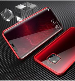 Luxury 360 Full Cover Glass Case For Huawei P30 P20 Mate20 Y9 2019 honor10 mate 30 Protective Cover red frame huawei p20 pro