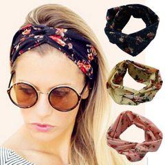 Fashion Women Girls Hair Bands Print Headbands Turban Bandage Bandanas HairBands Hair Accessories 1