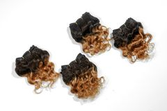 Double Drawn Spannish Curly Wave 6Inch 4 Bundles Brazilian Hair T2/30 100% Human Hair Extension natural 6 inch