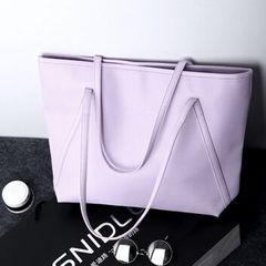 New European and American fashion, high-capacity single-shoulder bag handbag, high-quality PU bag Lavender 34X11X35cm