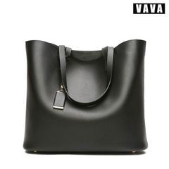 Fashion new large capacity bucket bag microfiber leather female bag shoulder diagonal bag black 33X11X29cm
