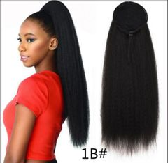 CFH fluffy ponytails Corn Curly  explosive horsetail Micro Ironing Hair Extensions Wigs For Women 33# 22inch