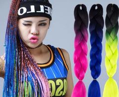 CFH African Fashion Wig Dreadlocks Synthetic Hair Great Braid 5 black+light purple 24inch