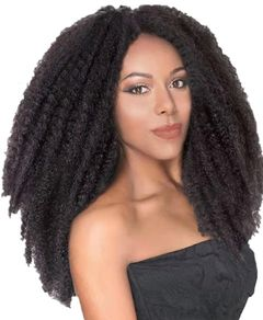 CFH African dirty braided wig Afro Kinky Curly Caterpillar Braid explosions wig hair 4# 18inch