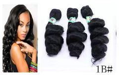 CFH Loose Wave Hair  Hair natural black Synthetic Wigs Hair Women's Wigs 1b# 18inch